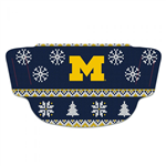 U of M Wolverines Ugly Sweater Face Mask