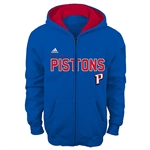 Adidas Detroit Pistons Youth Stated Full Zip Hoodie