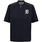 Majestic Detroit Tigers Navy On-Field Training 1/2 Zip Pullover Jacket