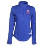 Under Armour Detroit Pistons Womens Combine Authentic Tech Long Sleeve 1/4 Zip Pullover