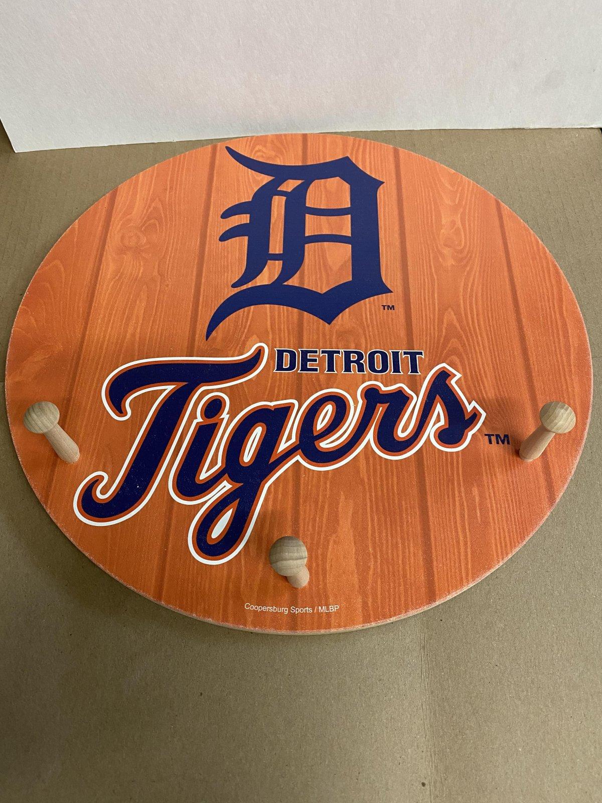 Detroit Tigers 3 Hook Coat Rack