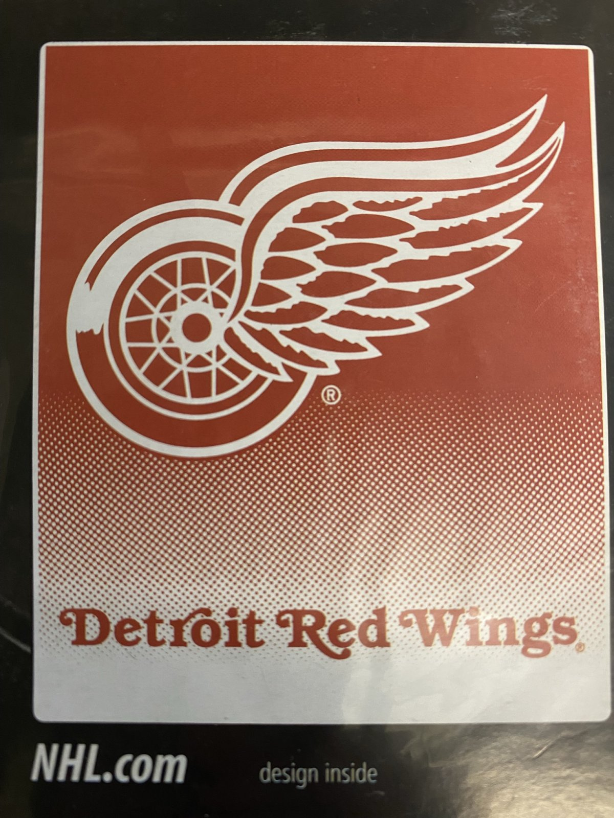 Detroit Red Wings Raschel Throw Blanket