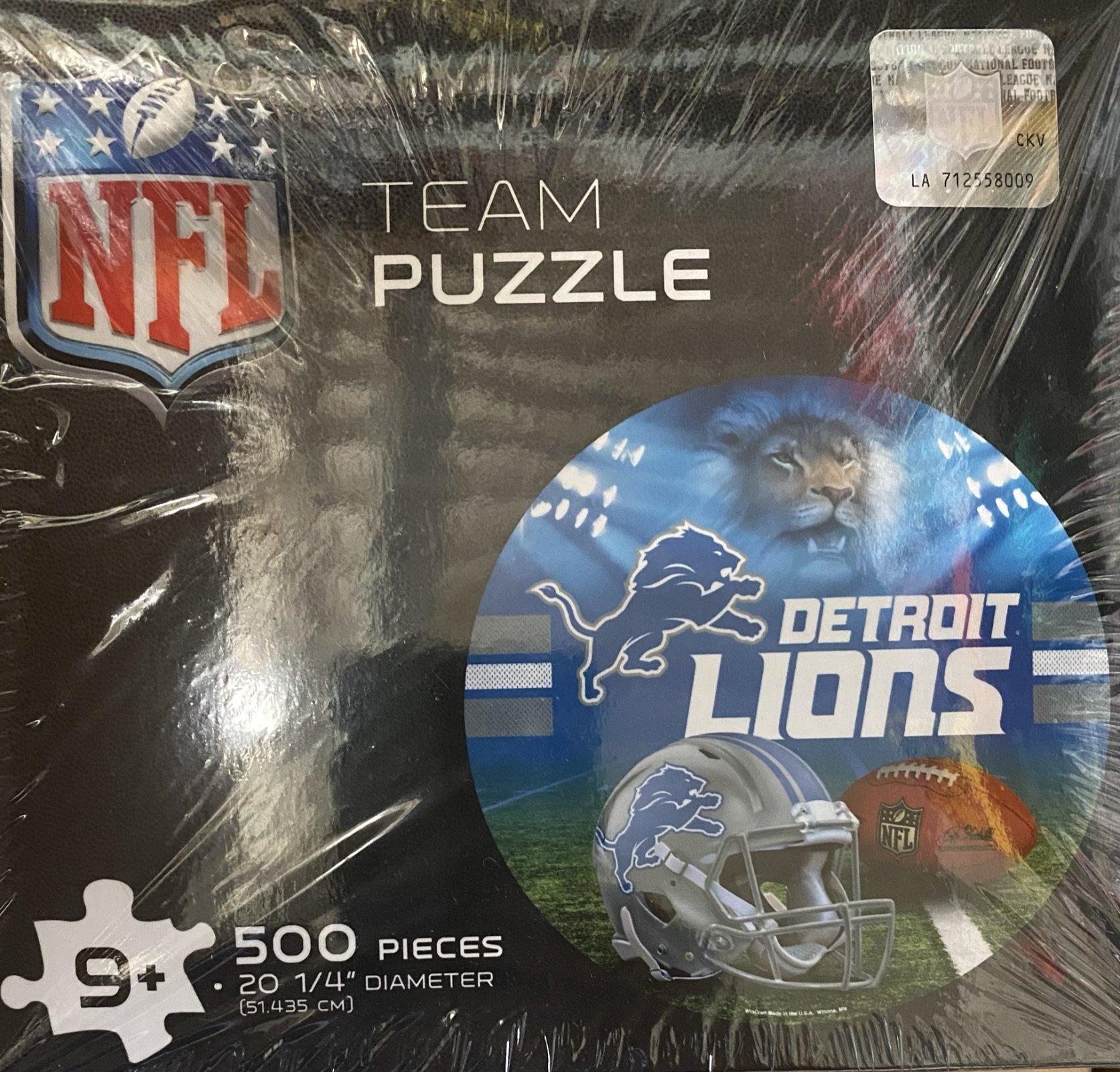 Detroit Lions 500 Piece Team Puzzle