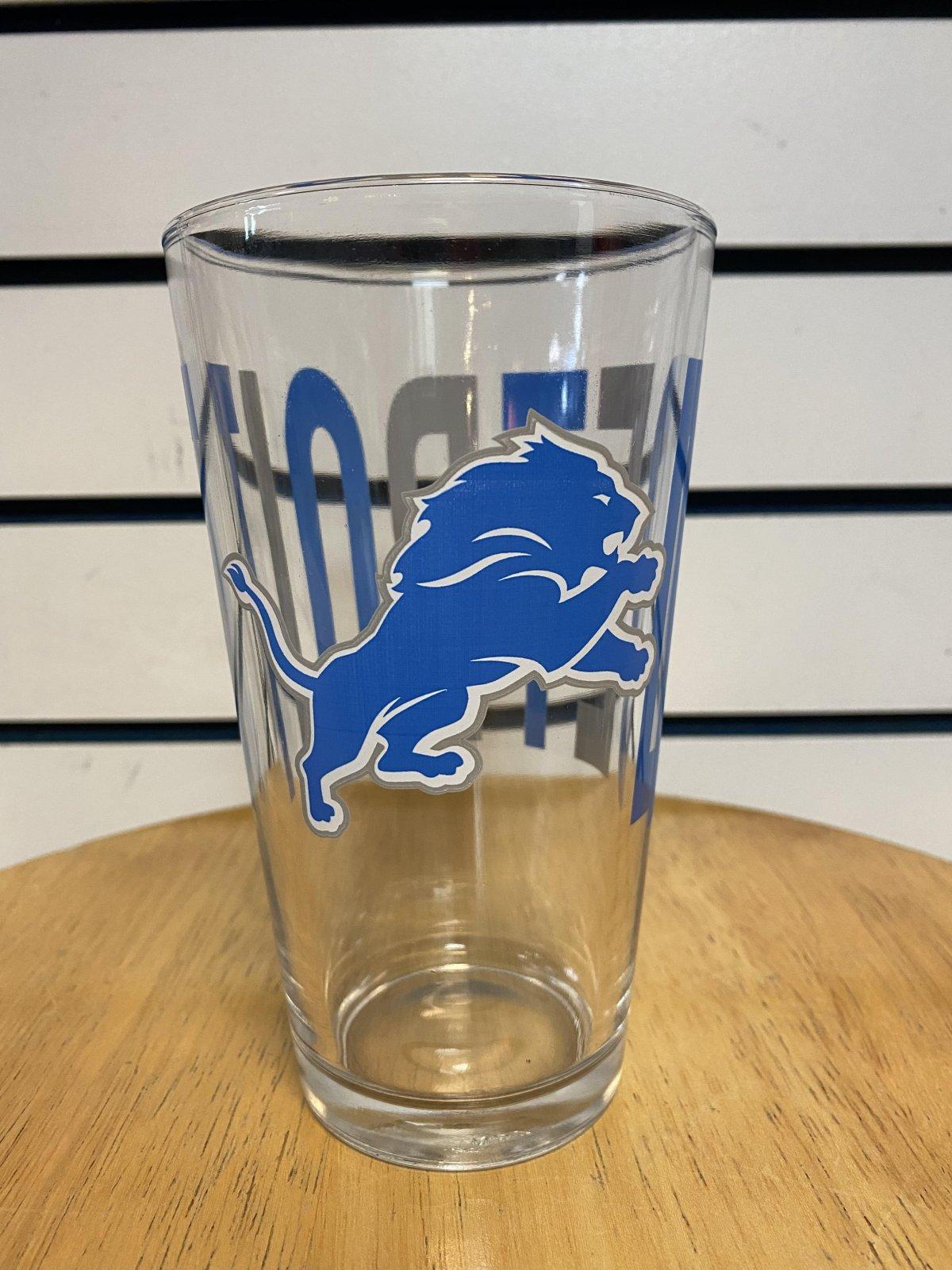 Detroit Lions Overtime Pint Glass