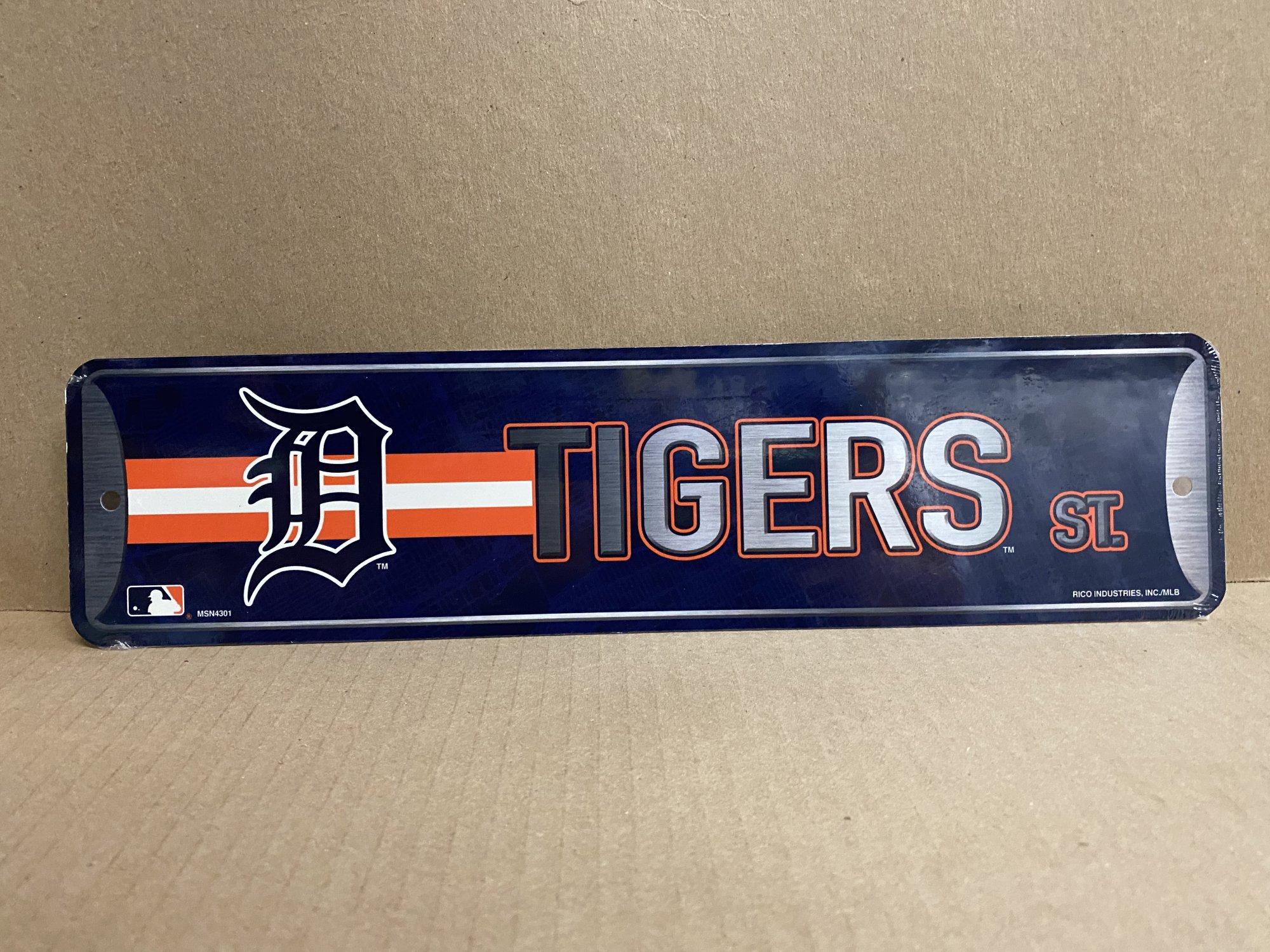 Detroit Tigers Street Metal Sign