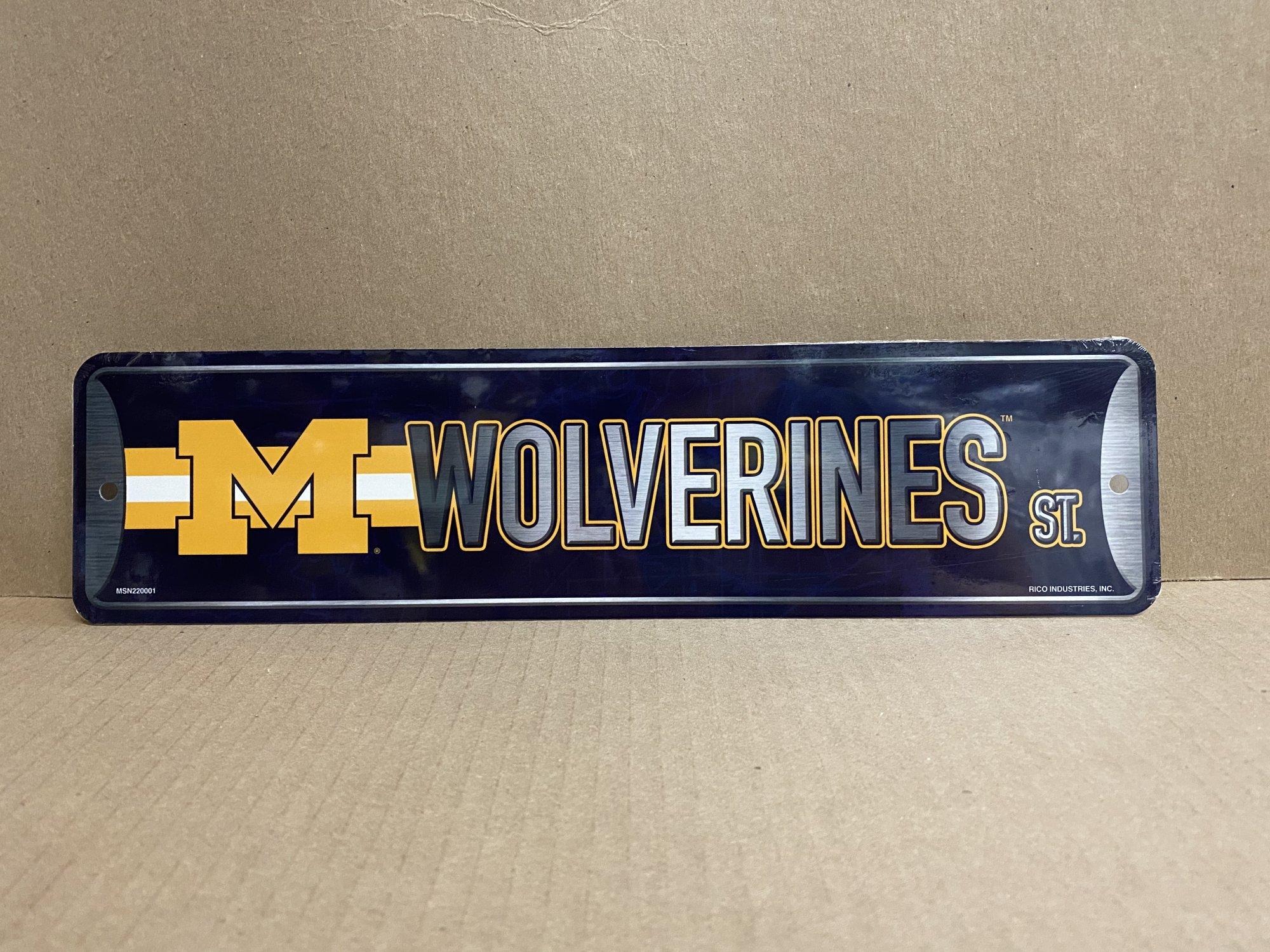 U of M Wolverines Street Metal Sign