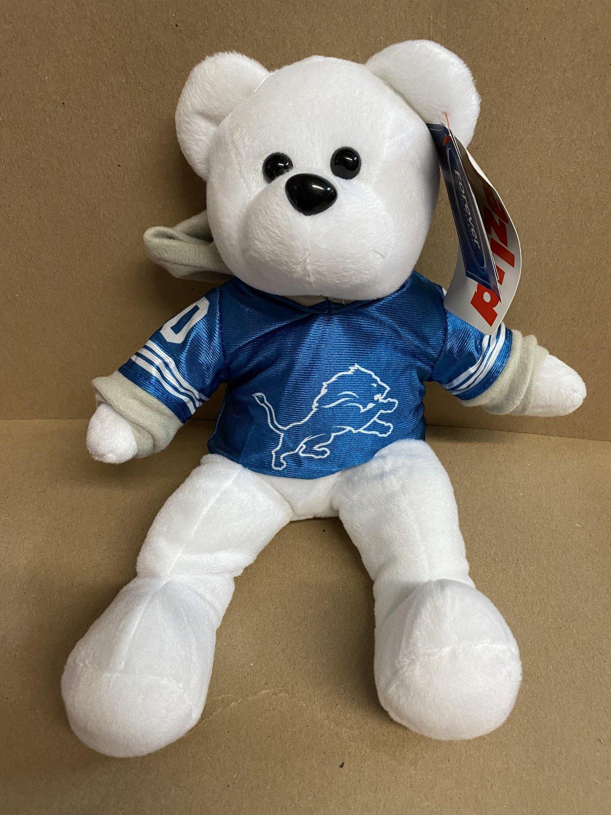 Detroit Lions White Rally Bear