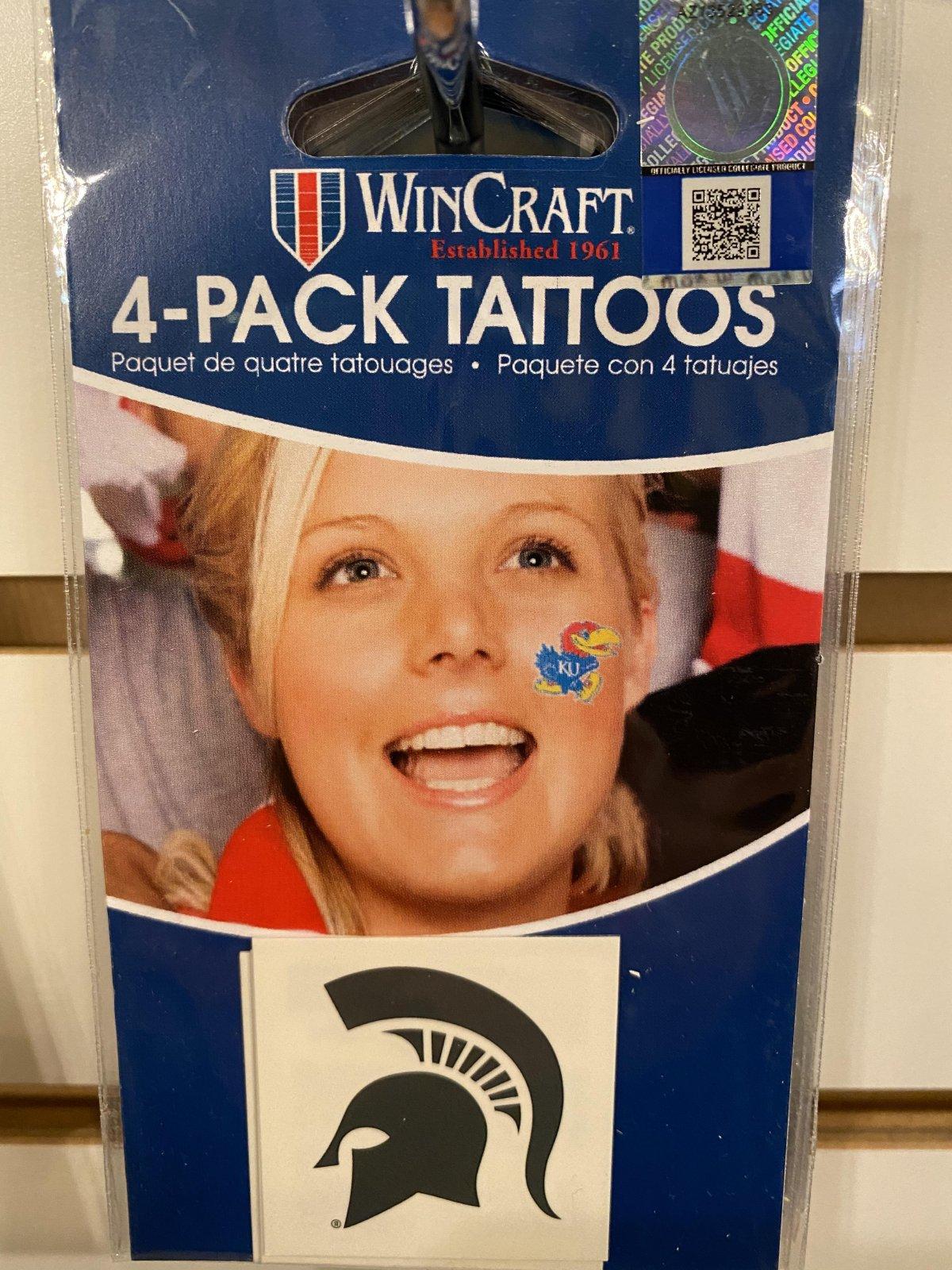 MSU 4 Pack Face Tattoos