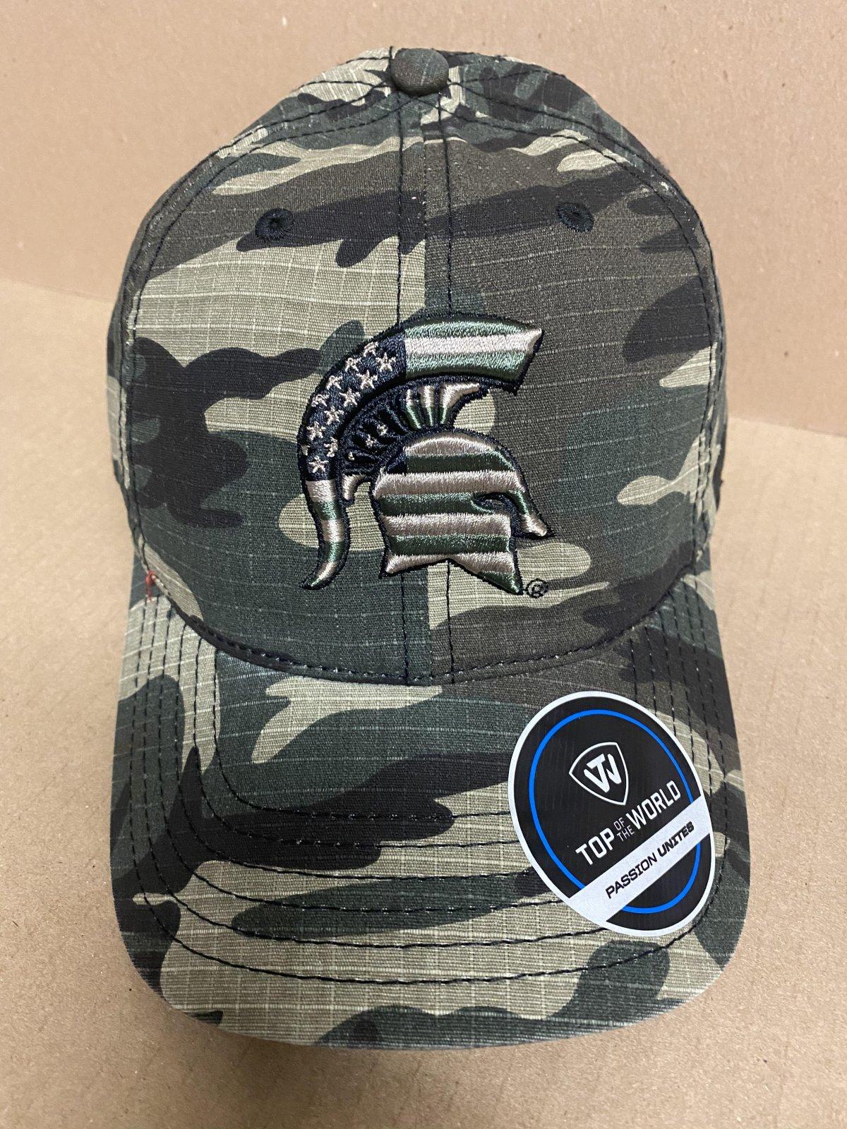 MSU Spartans Camo Flagdrab ADJ Hat