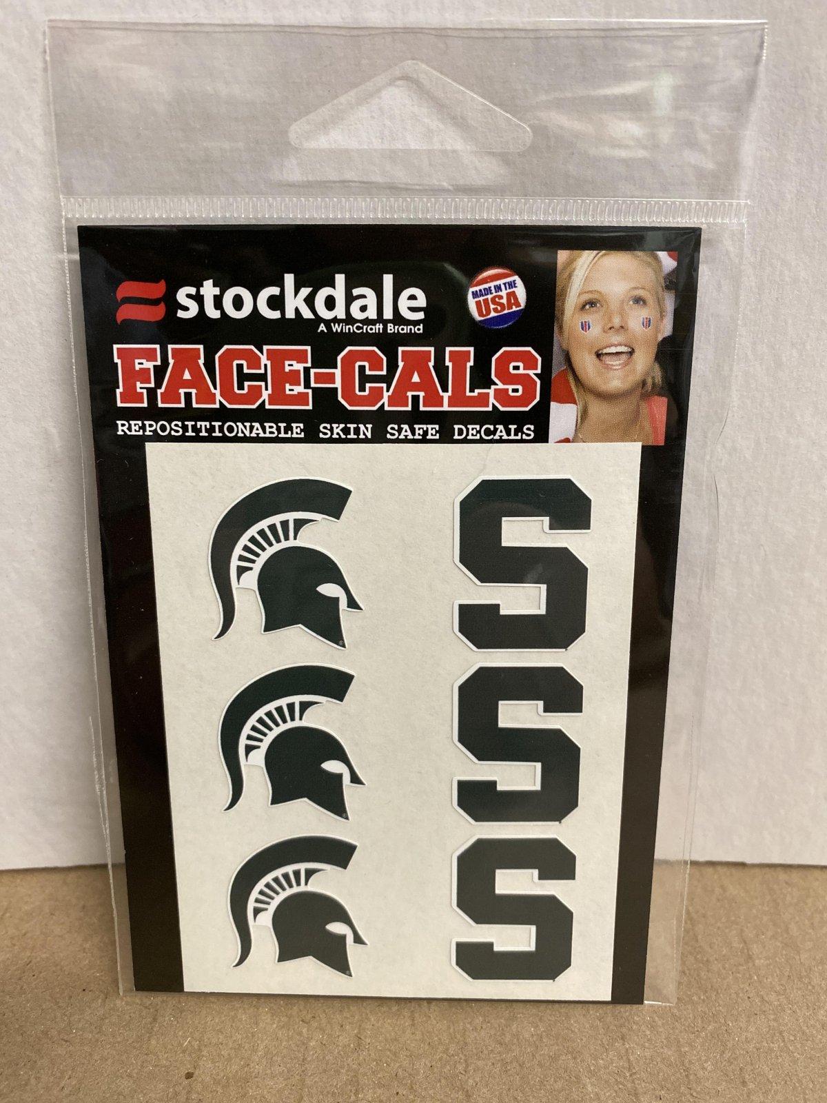 MSU Face-Cal Tattoo 6 Pack