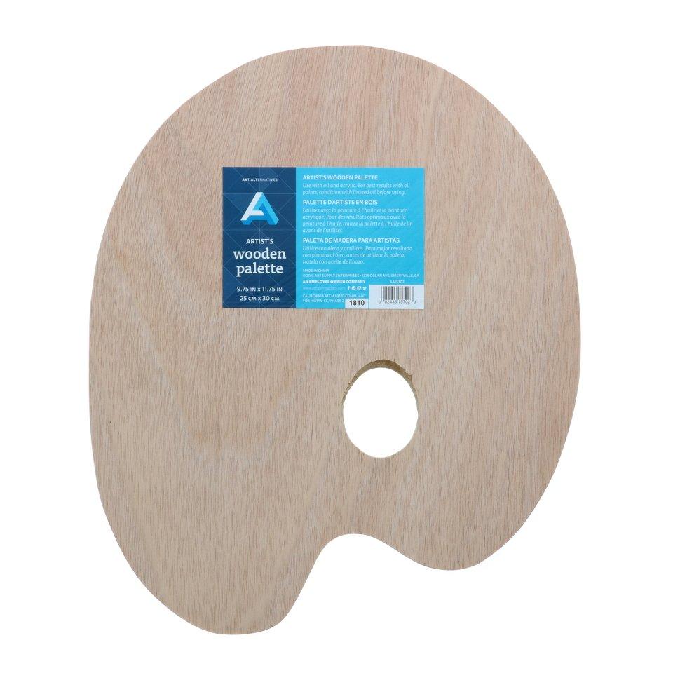 AA Palette Wood Oval 9X11