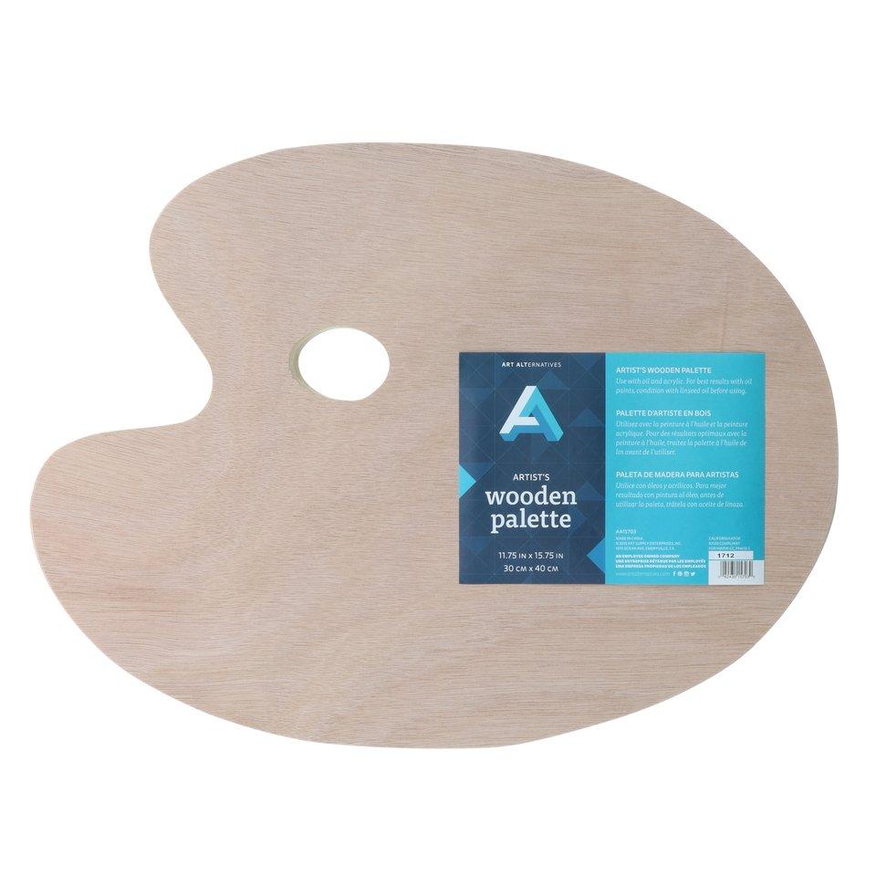 AA Palette Wood Oval 11X15