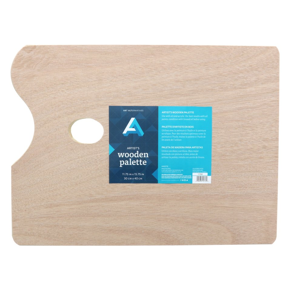 AA Palette Wood Rectangular 11X15