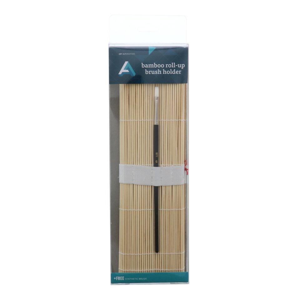 AA Brush Holder Roll-Up Bamboo
