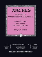 Arches WC Pad Hot Press 140LB 9X12