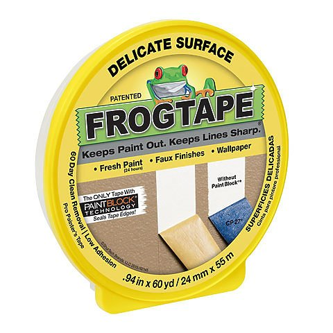 FrogTape Delicate-Surface Masking Tape, .94 x 60 yards