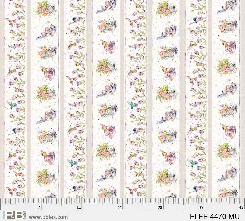 Flowers & Feathers Stripe