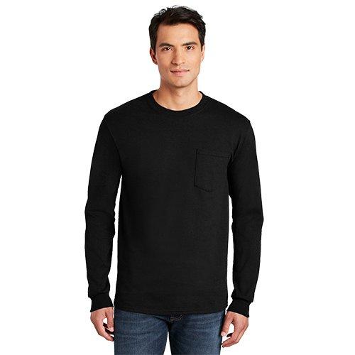 2410  Gildan® - Ultra Cotton® 100% Cotton Long Sleeve T-Shirt with Pocket
