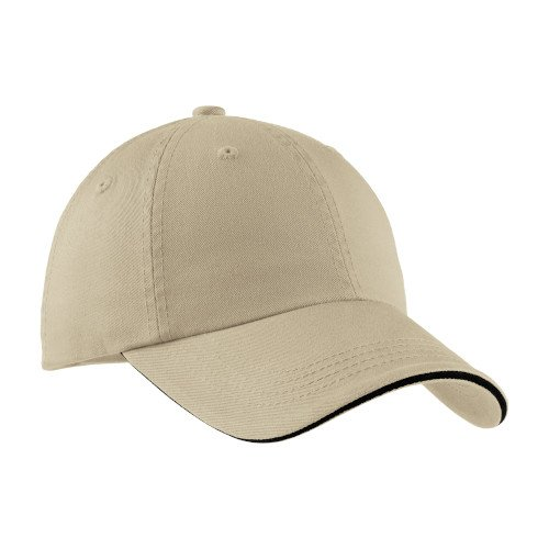 C830  Port Authority® Sandwich Bill Cap with Striped Closure