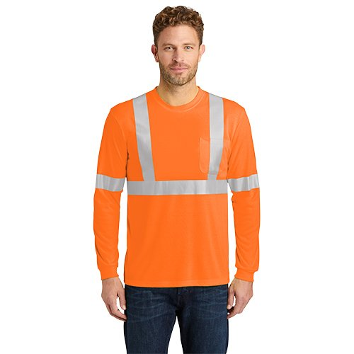 CS401LS  CornerStone® ANSI 107 Class 2 Long Sleeve Safety T-Shirt