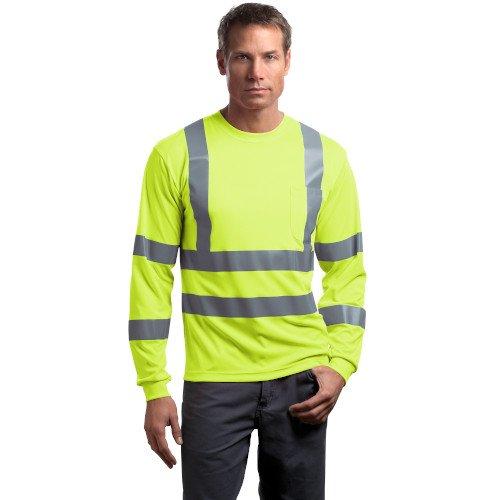 CS409  CornerStone® - ANSI 107 Class 3 Long Sleeve Snag-Resistant Reflective T-Shirt