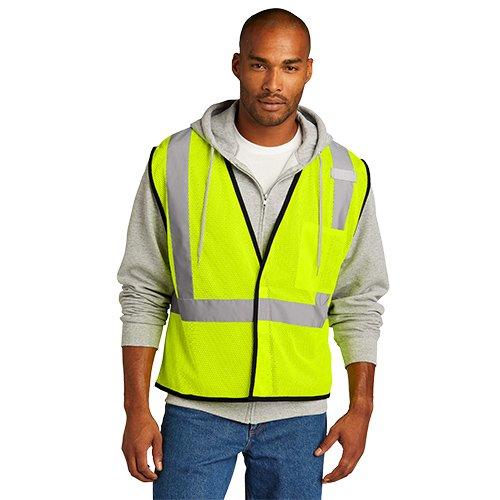 CSV100  CornerStone ® ANSI 107 Class 2 Economy Mesh One-Pocket Vest