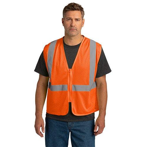 CSV101  CornerStone® ANSI 107 Class 2 Economy Mesh Zippered Vest