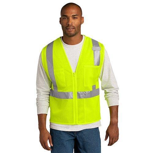 CSV102  CornerStone® ANSI 107 Class 2 Mesh Zippered Vest