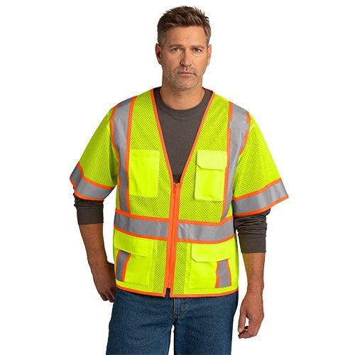 CSV106 CornerStone® ANSI 107 Class 3 Surveyor Mesh Zippered Two-Tone Short Sleeve Vest