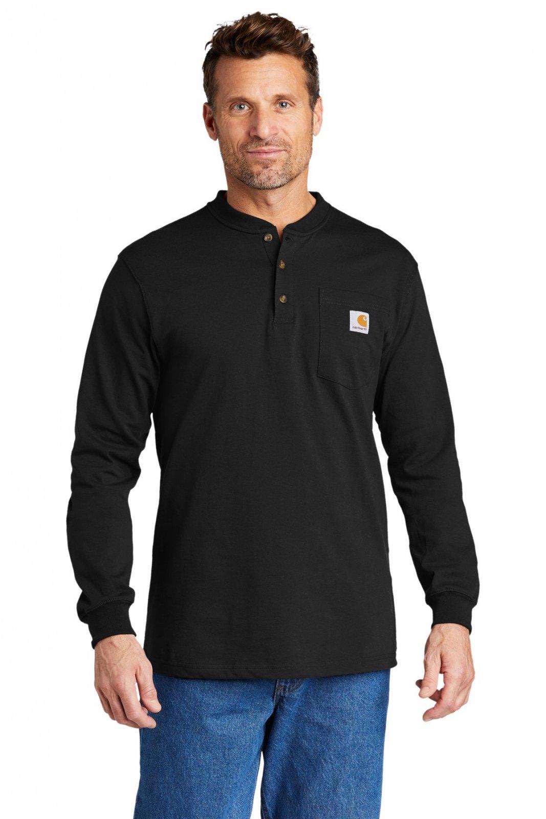 CTK128  Carhartt® Long Sleeve Henley T-Shirt