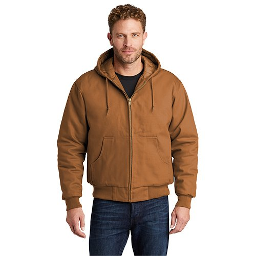 TLJ763H  CornerStone® Tall Duck Cloth Hooded Work Jacket