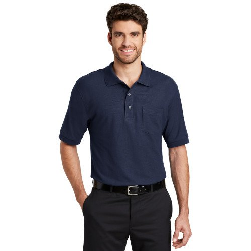 K500P  Port Authority® Silk Touch? Polo with Pocket