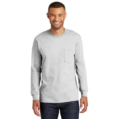 PC61LSP Port & Company® Long Sleeve Essential Pocket Tee