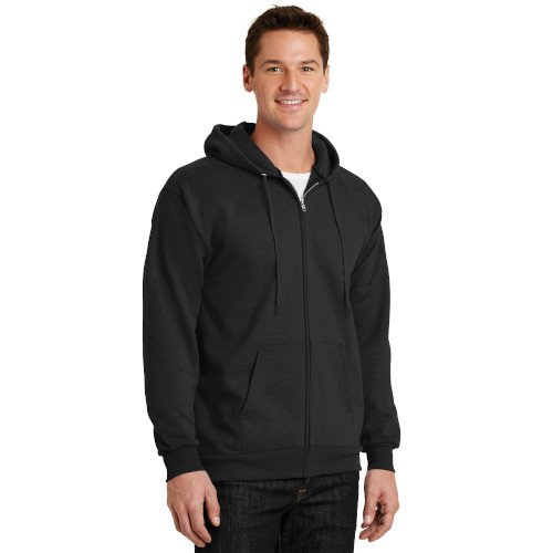 PC90ZH  Port & Company® Essential Fleece Full-Zip Hooded Sweatshirt