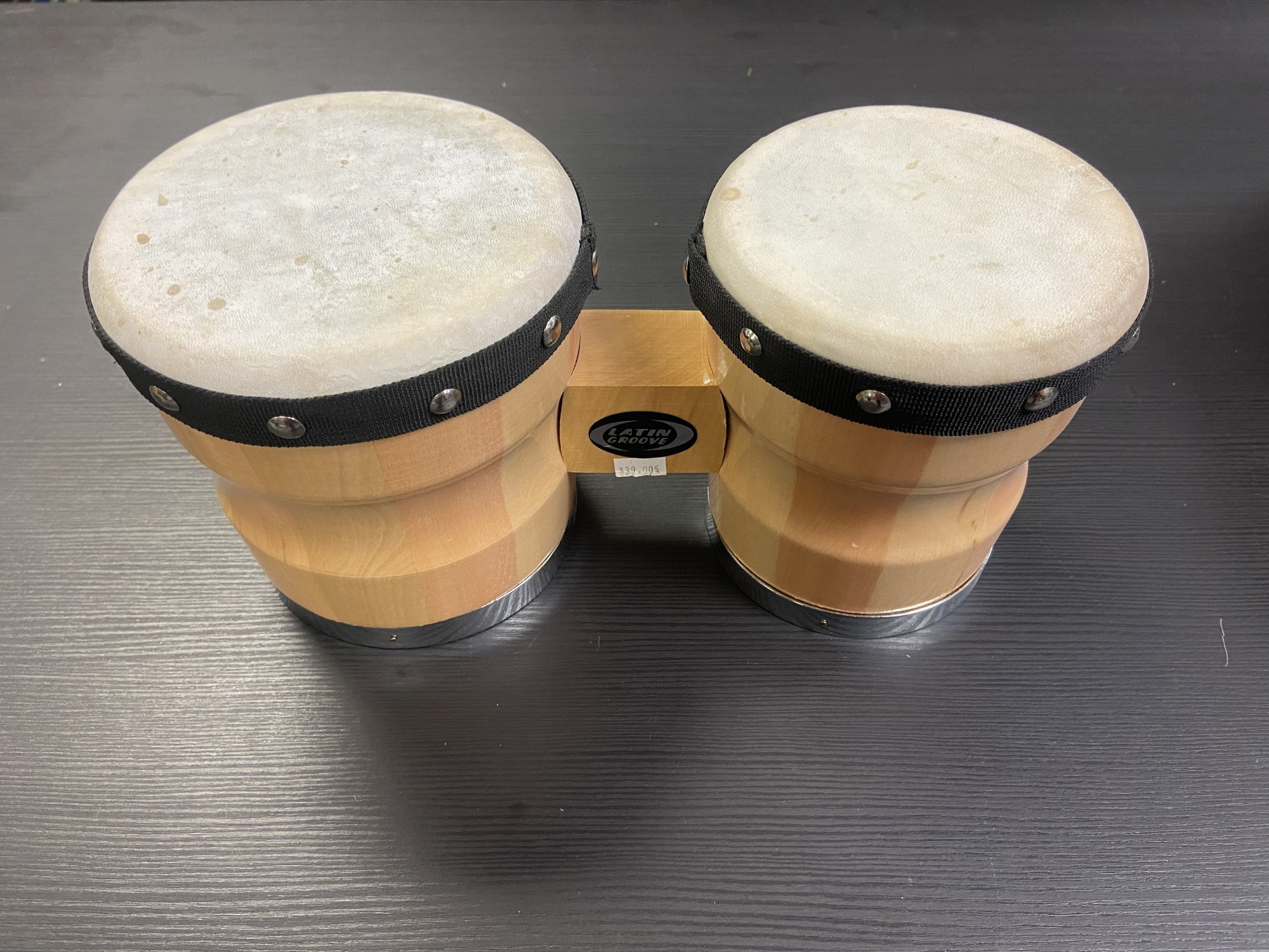 Latin Groove Wood Bongo Drums