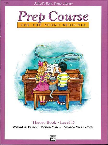 Alfred's Piano Library Prep Course Theory Book Level D