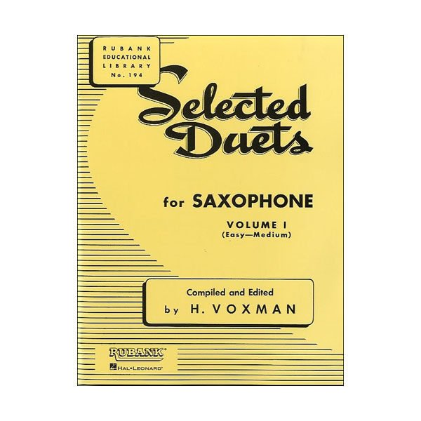 Seleceted Duets for Saxophone Volume 1 Rubank No. 194