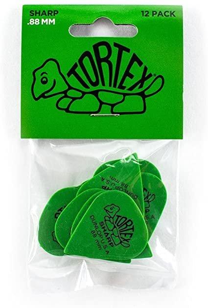 Dunlop Tortex .88mm Green 12 Pack Picks