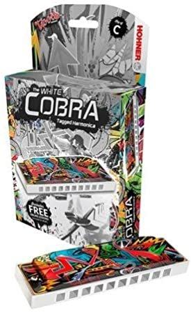 Hohner 145WCBX-C White Cobra Key of C Harmonica