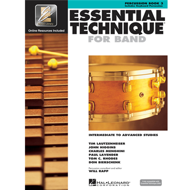 Percussion Book 3 Essential Technique for Band