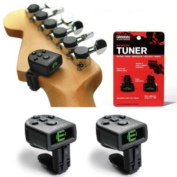 D'Addario PW-CT-12TP NS Micro Tuner 2 Pack