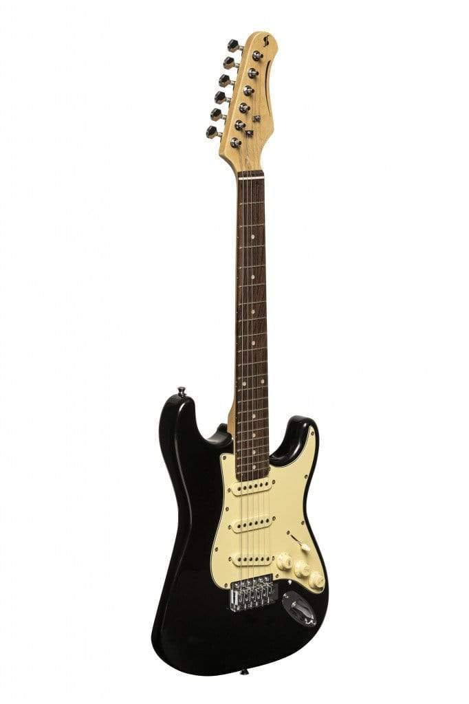 Stagg SES-30 Stratocaster Electric Guitar Style Ivory on Black