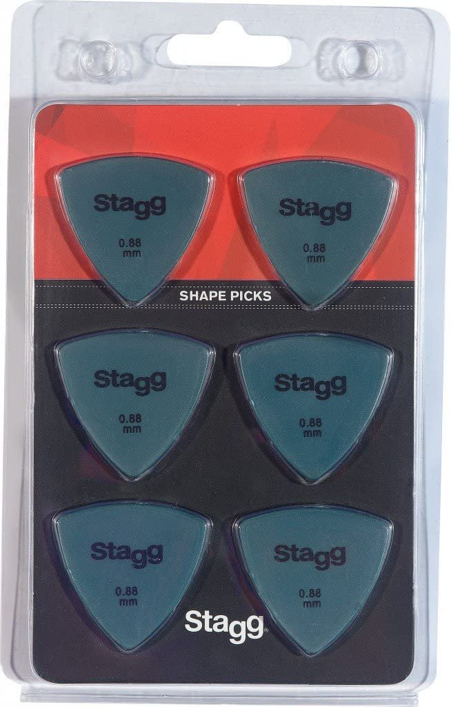 Stagg SPELLI X6-0 .88mm Shape Picks 6 Pack