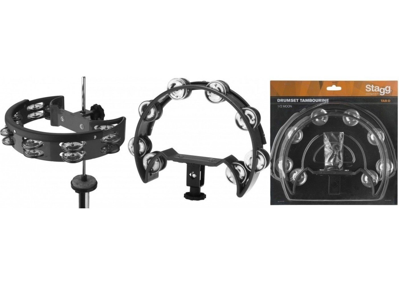 Stagg TAB-DBK 1/2 Moon Drumset Tambourine