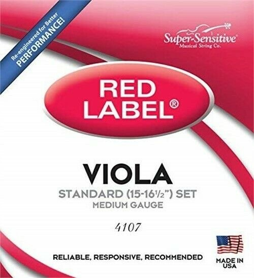 Super Sensitive 4107 Red Label Viola 15-16.5 Set