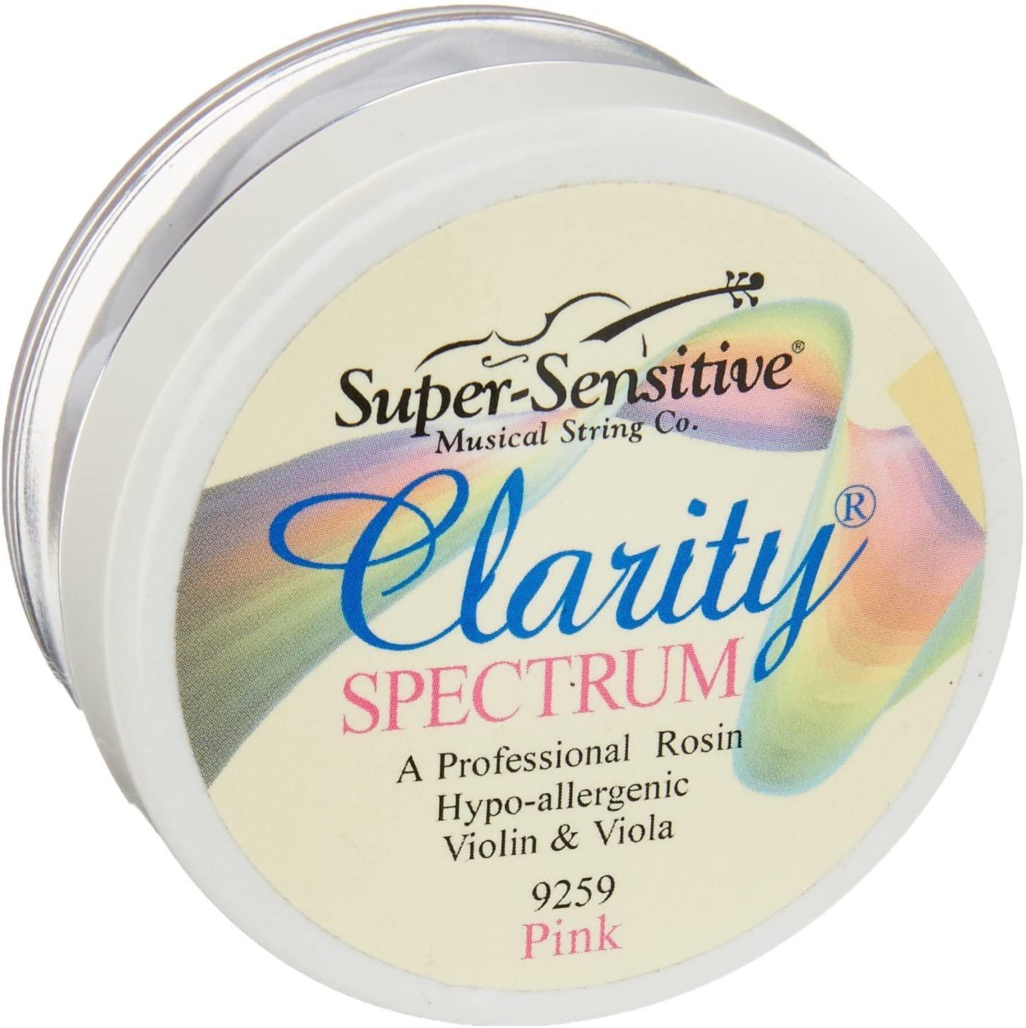 Super Sensitive Clarity Spectrum Violin/Viola Rosin Pink