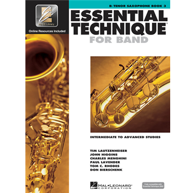 Tenor Saxophone Book 3 Essential Technique for Band