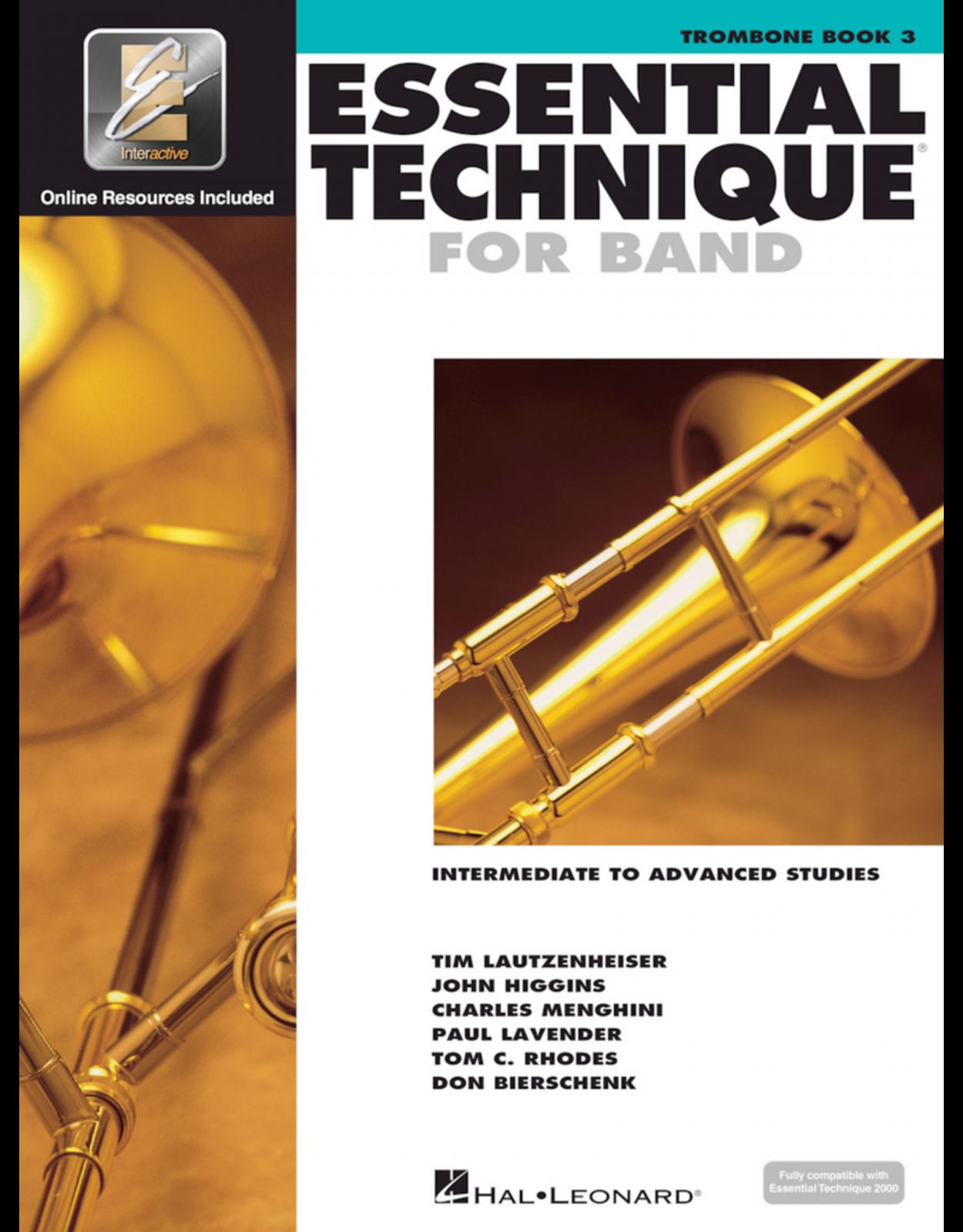 Trombone Book 3 Essential Technique for Band