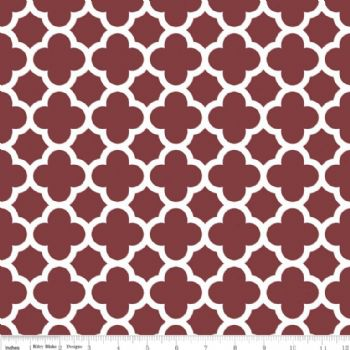 Riley Blake Quatrefoil Medium Burgundy