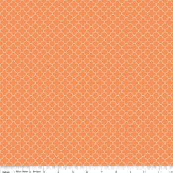 Riley Blake Quatrefoil Mini Orange